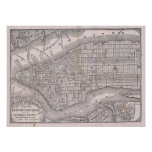 Vintage Map of New York City (1886) Posters