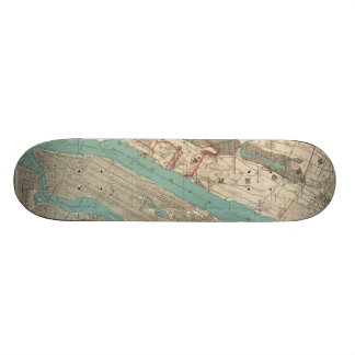 Vintage Map of New York City (1890) 18.4 Cm Mini Skateboard Deck