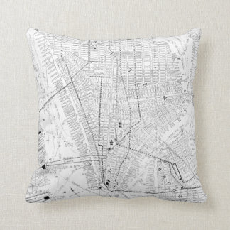 Vintage Map of New York City (1911) Cushion