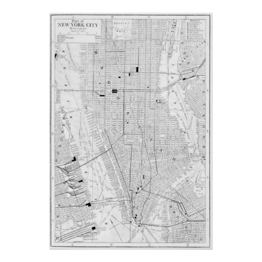Vintage Map of New York City (1911) Posters