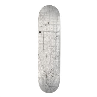 Vintage Map of New York City (1911) Skate Board Decks