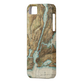 Vintage Map of New York City Harbor (1864) iPhone 5 Covers