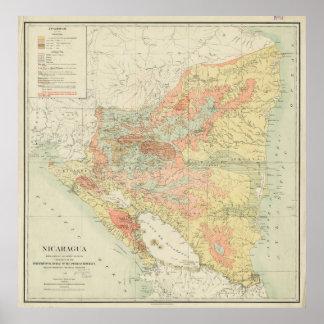Vintage Map of Nicaragua (1903) Poster