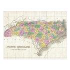 Vintage Map of North Carolina (1827) Postcard