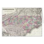 Vintage Map of North Carolina (1855) Greeting Card