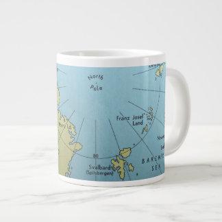 Vintage map of North Pole mug