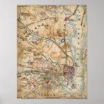 Vintage Map of Northeastern Virginia (1862) Print