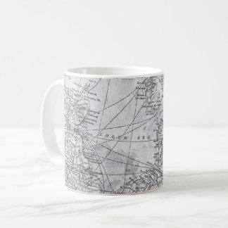 Vintage Map of Northern Europe, North Sea, Baltic Coffee Mug