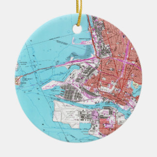 Vintage Map of Oakland California (1959) Ceramic Ornament