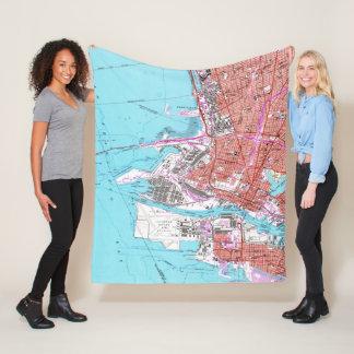 Vintage Map of Oakland California (1959) Fleece Blanket