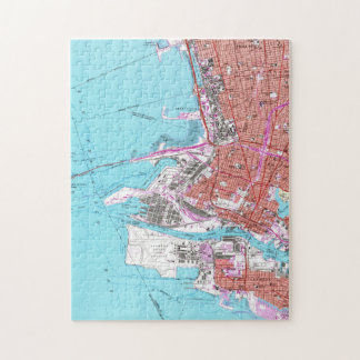 Vintage Map of Oakland California (1959) Jigsaw Puzzle