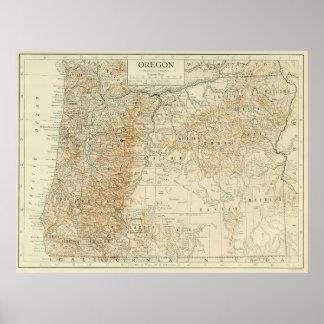 Vintage Map of Oregon (1911) Poster