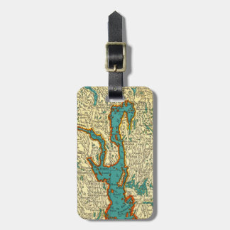 Vintage Map of OSLO NORWAY  Luggage Tag