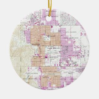 Vintage Map of Palm Springs California (1957) Ceramic Ornament