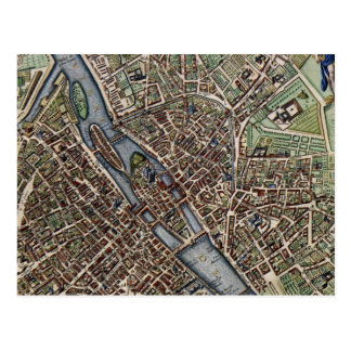 Vintage Map of Paris 1657 Post Cards