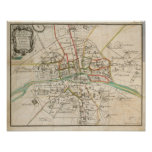 Vintage Map of Paris (1678) Poster