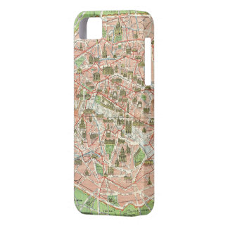 Vintage Map of Paris (1920) iPhone 5 Case