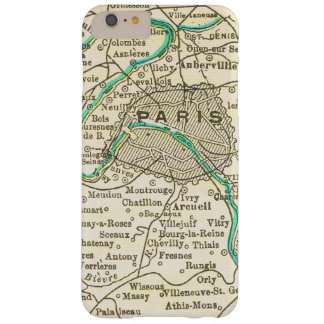 Vintage Map of PARIS FRANCE Barely There iPhone 6 Plus Case