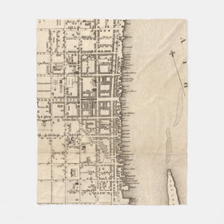 Vintage Map of Philadelphia Pennsylvania (1776) Fleece Blanket