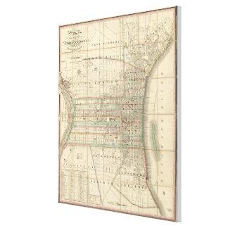 Vintage Map of Philadelphia Pennsylvania (1830) Canvas Print