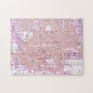 Vintage Map of Phoenix Arizona (1952) 2 Jigsaw Puzzle