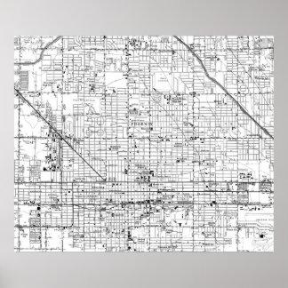 Vintage Map of Phoenix Arizona (1952) 2 Poster