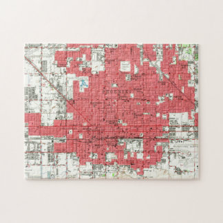 Vintage Map of Phoenix Arizona (1952) 3 Jigsaw Puzzle