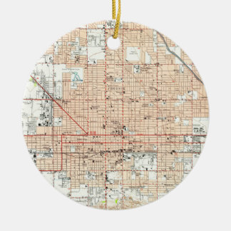 Vintage Map of Phoenix Arizona (1952) Ceramic Ornament