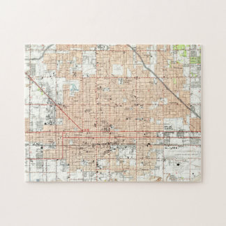 Vintage Map of Phoenix Arizona (1952) Jigsaw Puzzle