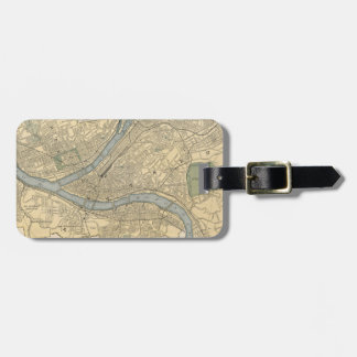 Vintage Map of Pittsburgh PA (1891) Luggage Tag