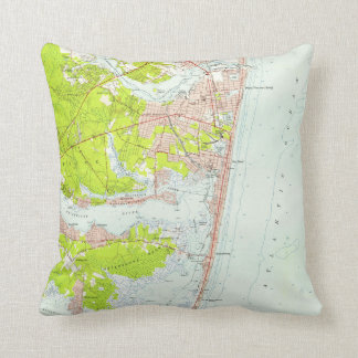 Vintage Map of Point Pleasant NJ (1953) Cushion