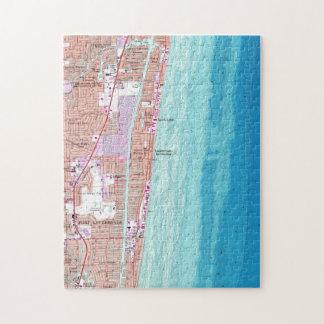 Vintage Map of Pompano Beach Florida (1962) Jigsaw Puzzle