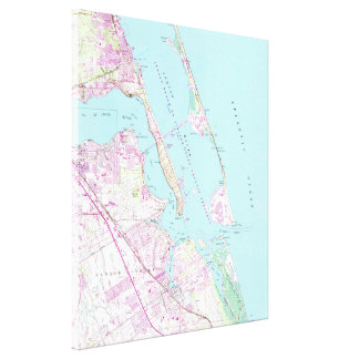 Vintage Map of Port St Lucie Inlet (1948) Canvas Print