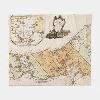 Vintage Map of Prince Edward Island (1775) Fleece Blanket