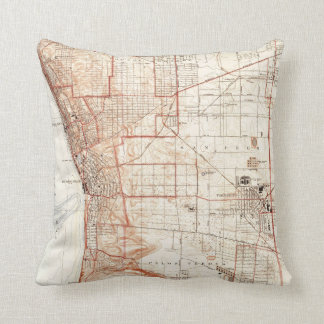 Vintage Map of Redondo Beach & Torrance CA (1934) Cushion