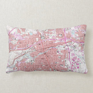 Vintage Map of Reno Nevada (1967) Lumbar Cushion