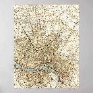 Vintage Map of Richmond Virginia (1934) Poster