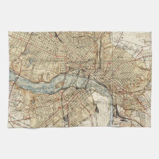 Vintage Map of Richmond Virginia (1934) Tea Towel