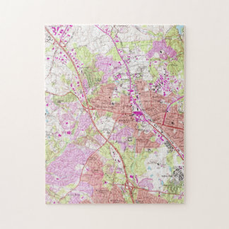 Vintage Map of Rockville Maryland (1965) Jigsaw Puzzle