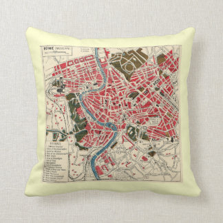 Vintage Map of Rome Cushion