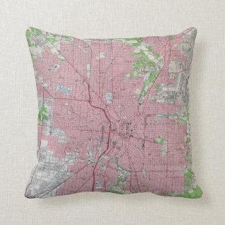 Vintage Map of San Antonio Texas (1953) Cushion