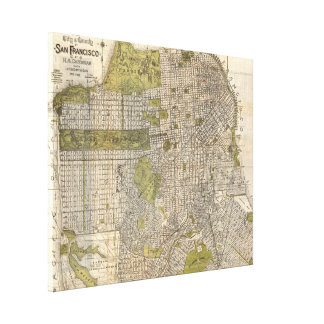 Vintage Map of San Francisco (1932) Canvas Print