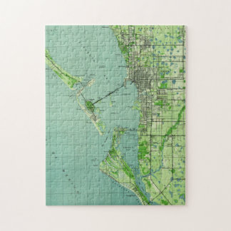 Vintage map of Sarasota Florida (1944) Jigsaw Puzzle
