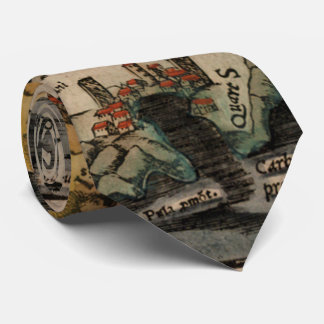 Vintage Map of Sardinia Italy (16th Century) Tie