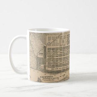 Vintage Map of Savannah Georgia (1818) Coffee Mug