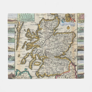 Vintage Map of Scotland (1747) Fleece Blanket
