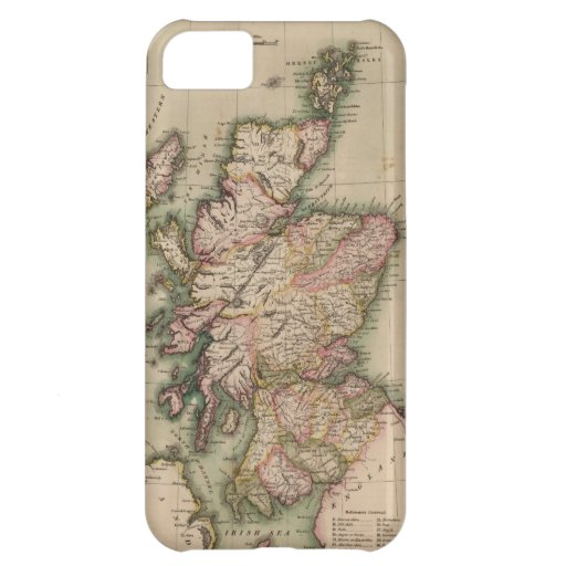 Vintage Map of Scotland (1814) iPhone 5C Cover