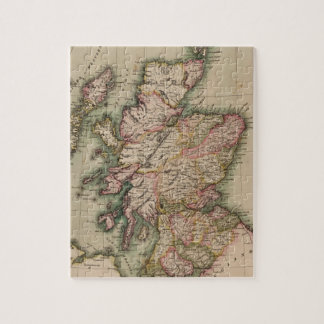 Vintage Map of Scotland (1814) Jigsaw Puzzles