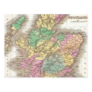 Vintage Map of Scotland 1827 Post Cards