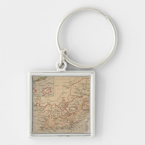 Vintage Map of South Africa (1880) Keychain